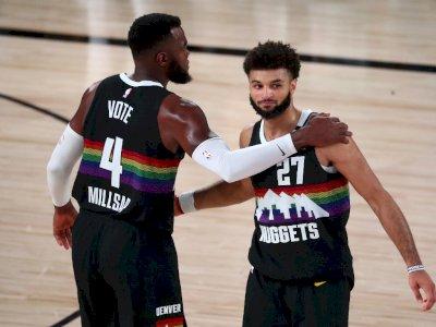 FOTO: Nuggets Menahan Lakers dengan Kemenangan 114-106