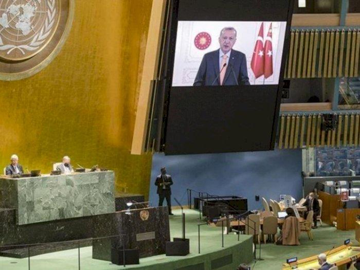Panas! Dubes Israel Pergi saat Erdogan Kritik Penindasan Terhadap Palestina di Sidang PBB