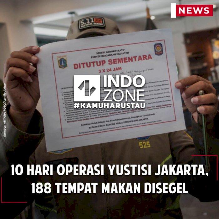 10 Hari Operasi Yustisi Jakarta, 188 Tempat Makan Disegel