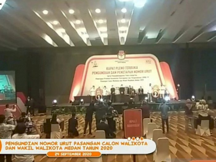 Pilkada Medan: Akhyar-Salman Nomor Urut 1, Bobby-Aulia Nomor 2