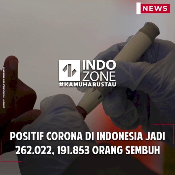 Positif Corona di Indonesia Jadi 262.022, 191.853 Orang Sembuh