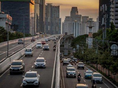 FOTO: Penurunan Volume Kendaraan di Ibu Kota Selama PSBB