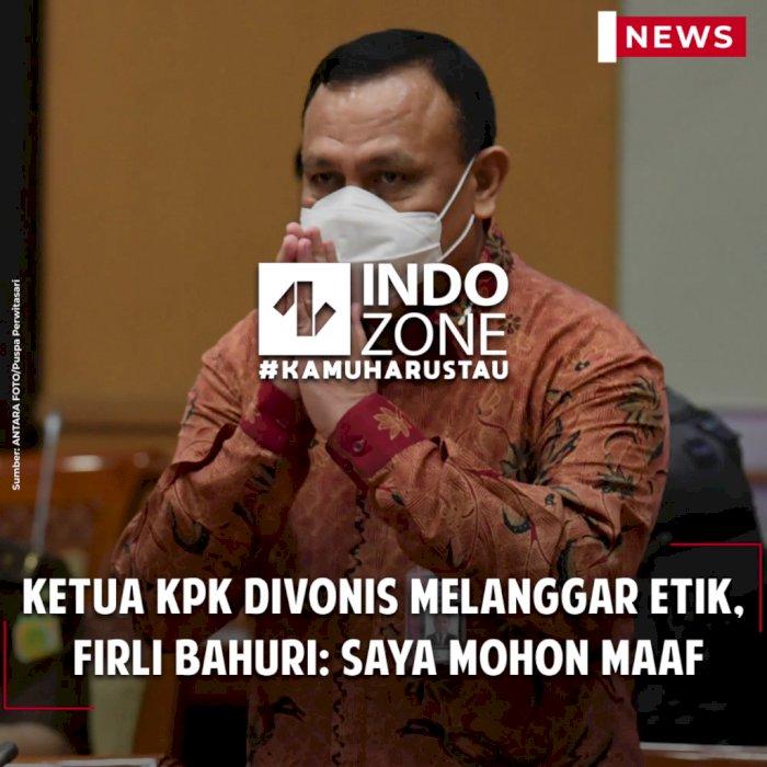 Ketua KPK Divonis Melanggar Etik,  Firli Bahuri: Saya Mohon Maaf