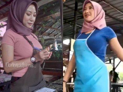 Viral Pelayan Berjilbab Tapi Pakai Baju Lengan Pendek Ketat, Netizen Salfok dan Menghujat