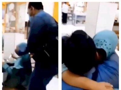 Anak Perempuan Ini Terkejut dengan Kehadiran Ayahnya, Langsung Peluk hingga Menangis