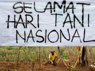 FOTO: Aksi Simpatik Hari Tani Nasional
