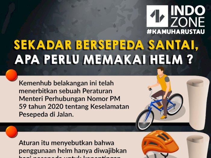 Sekadar Bersepeda Santai, Apa Perlu Memakai Helm?