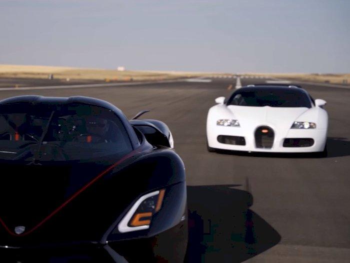 Melihat Drag Race Antara Mobil SSC Tuatara dengan Bugatti Veyron!