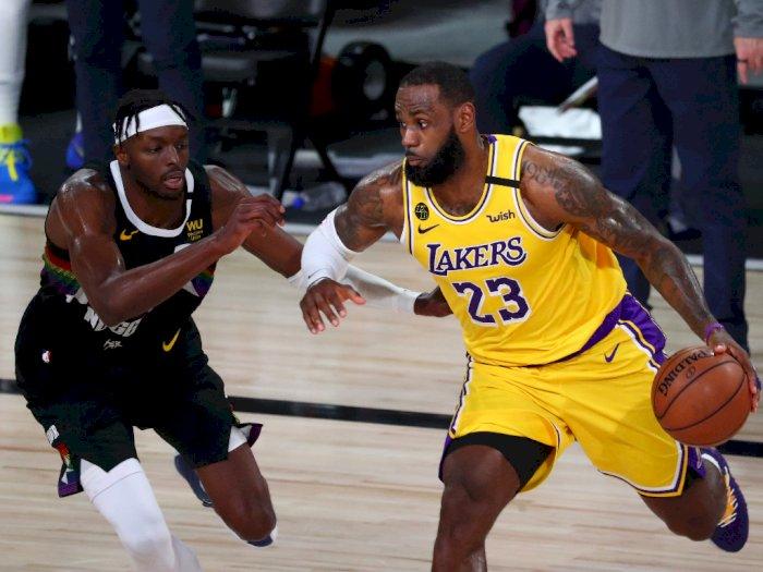 FOTO: Lakers Kalahkan Nuggets 114-108 dan Memimpin Seri 3-1