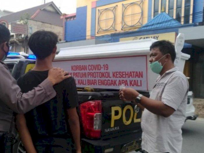 Polisi Medan Timur bawa Peti Mati, Ada Apa
