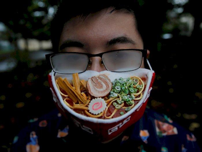 FOTO: Seniman Jepang Menciptakan Masker Berbentuk Ramen