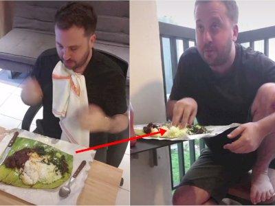 Kocak! Begini Perbedaan Cara Makan Bule ketika Baru 1 Hari di Indonesia vs 1 Tahun