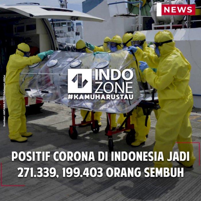 Positif Corona di Indonesia Jadi 271.339, 199.403 Orang Sembuh