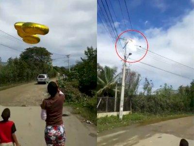 Duh! Orang ini Terbangkan Balon Ulang Tahun ke Udara, Malah Kena Kabel Listrik dan Meledak