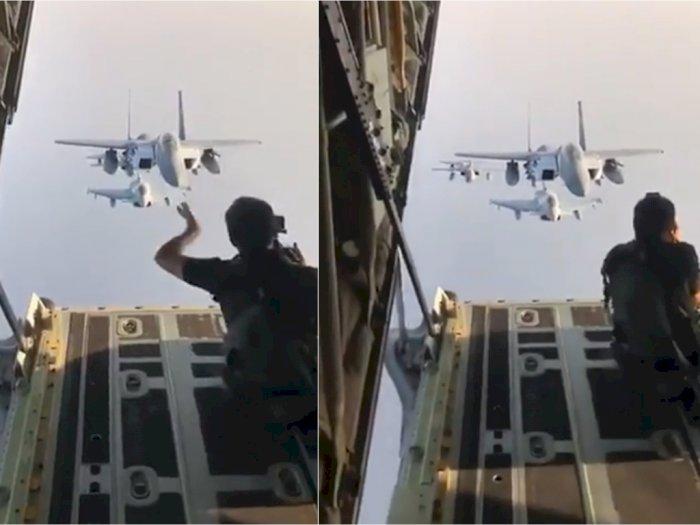 Ternyata Begini Cara Memotret Pesawat Jet Tempur, yang Takut Ketinggian Mundur!