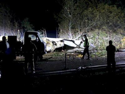 FOTO: 25 Orang Tewas Dalam Kecelakaan Pesawat Militer di Timur Ukraina