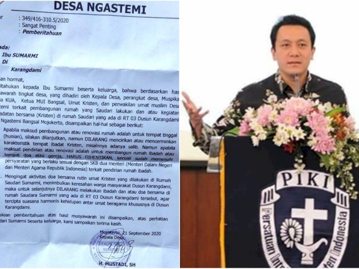Kepala Desa di Mojokerto Larang Umat Kristen Ibadah di Rumah, Stafsus Presiden Buka Suara