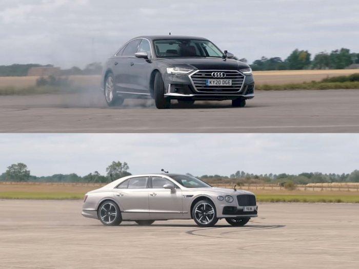 Melihat Drag Race Antara Mobil Audi S8 dengan Bentley Flying Spur!