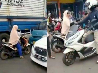 Video Wanita Marah Karena Ditegur Akibat Lawan Arah saat Macet, Netizen: Emak-emak Dilawan