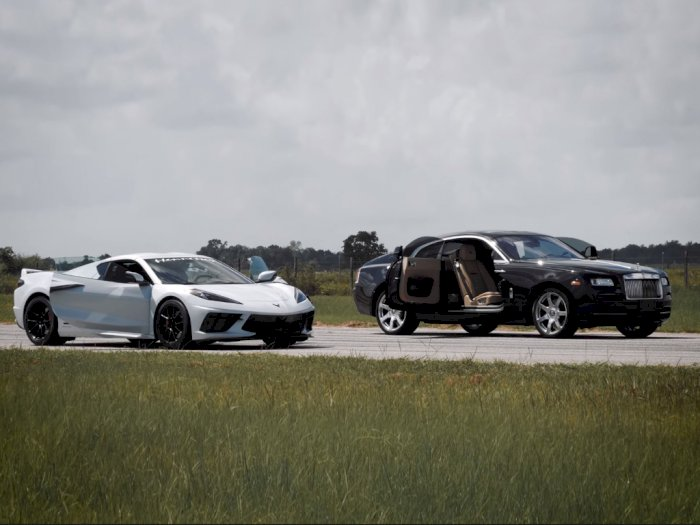 Chevrolet Corvette C8 Drag Race dengan Rolls-Royce Wraith, Kenapa Tidak?