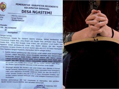 Viral Warga Kristen di Mojokerto Dilarang Doa Bersama di Rumah, Demi Keharmonisan Umat