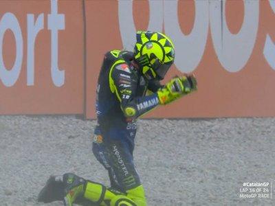 Valentino Rossi Terjatuh di MotoGP Catalunya, Padahal Sempat di Posisi 2