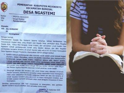 Heboh Warga Kristen di Ngastemi, Mojokerto Dilarang Beribadah di Rumah, Ini Isi Suratnya