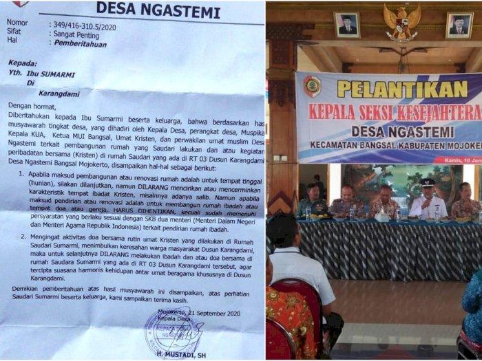 Mojokerto Memanas, Umat Kristen Dilarang Beribadah di Rumah oleh Kepala Desa Bertitel SH