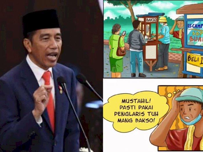 Kiat Dagang Laris di Masa Pandemi Ala Jokowi, 'Yang Jitu Itu Bukan Jimat atau Jampi-jampi'