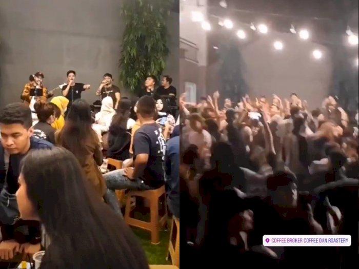 Viral Sekelompok Pemuda di Kafe Joget Berdesak-desakan, Bikin Netizen Geleng-geleng Kepala