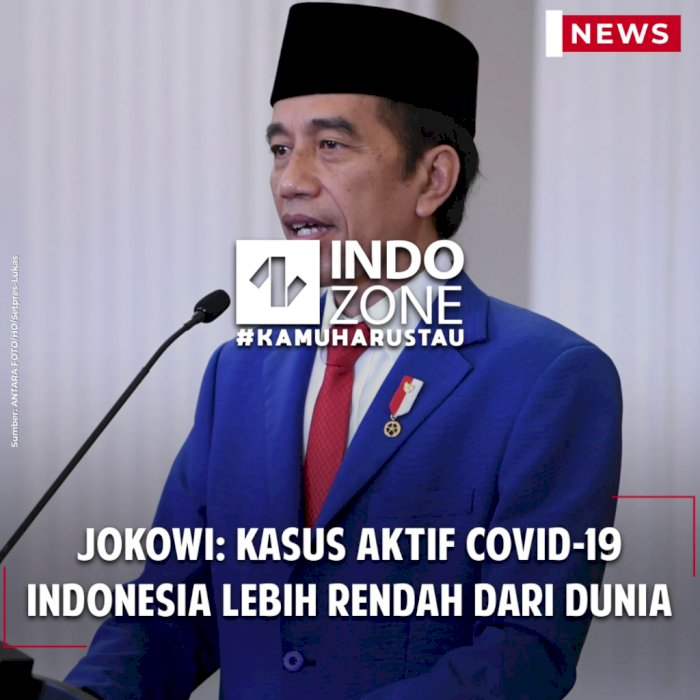 Jokowi: Kasus Aktif Covid-19 Indonesia Lebih Rendah dari Dunia