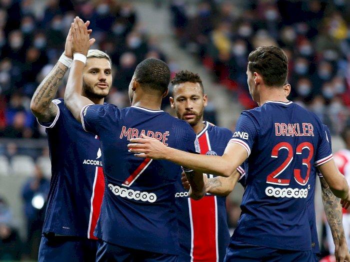 FOTO: Liga Prancis: Icardi Bawa PSG Menang 2-0 Atas Reims