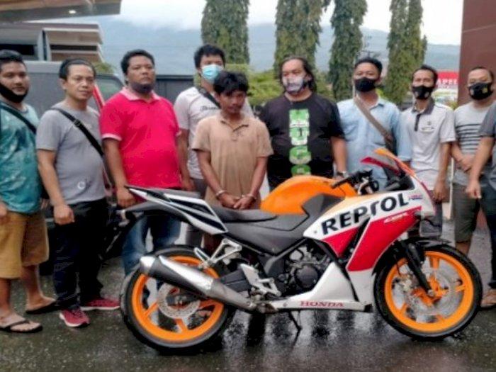Pulang Kampung ke Aceh, Pencuri Motor Warga di Siborongborong Akhirnya Diringkus