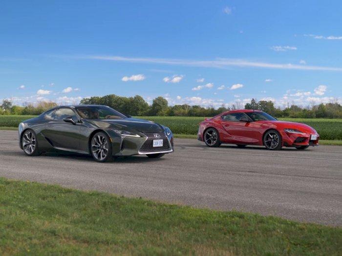 Melihat Drag Race Antara Mobil Lexus LC500 2021 dengan Toyota Supra!