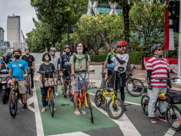 Gandeng Pihak Swasta, Pemprov DKI Terus Bangun Jalur Sepeda