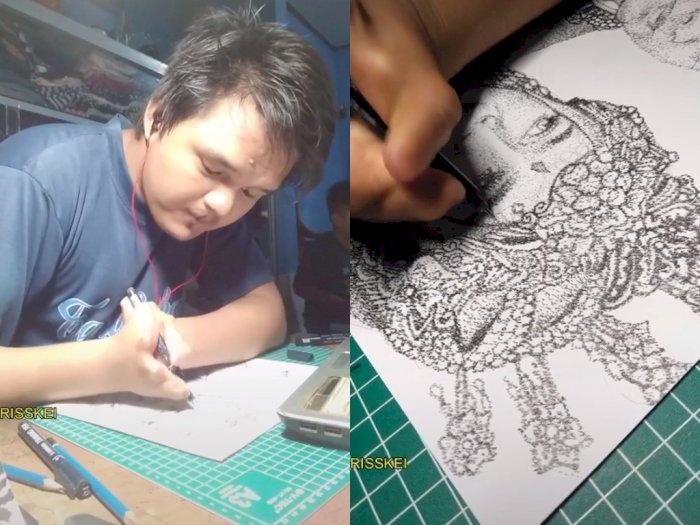 Keren! Pria DIfabel ini Bikin Gambar Pointilis, Hasinya Bikin Netizen Kagum