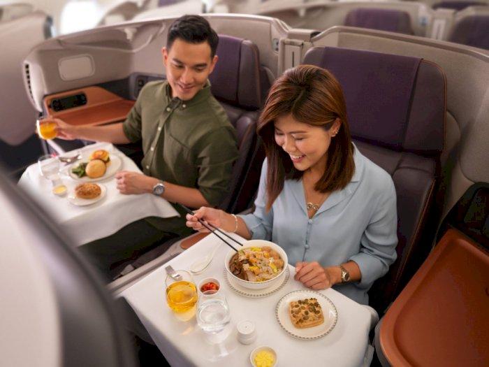 Manjakan Pelanggan, Maskapai Singapura Ubah Pesawat Bertingkat Jadi Restoran