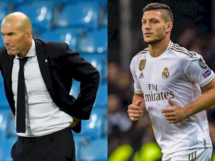 Zidane Angkat Bicara Terkait Spekulasi Keretakan Hubungan dengan Luka Jovic