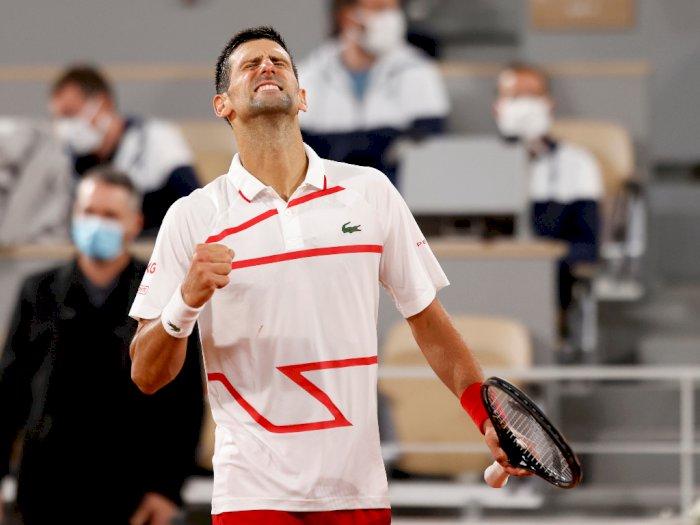 FOTO: Prancis Terbuka 2020: Djokovic Menang Mudah Melawan Mikael Ymer