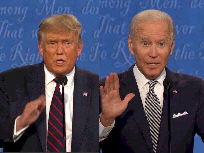 Perang Sengit Trump-Biden, Saling Hujat di Debat Capres Perdananya