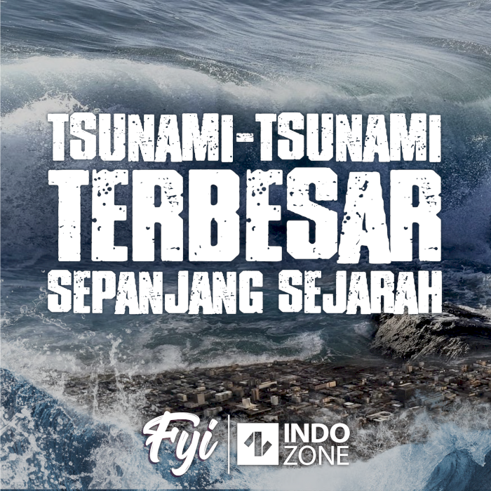 Tsunami-Tsunami Terbesar Sepanjang Sejarah