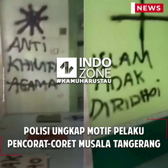 Polisi Ungkap Motif Pelaku Pencorat-coret Musala Tangerang