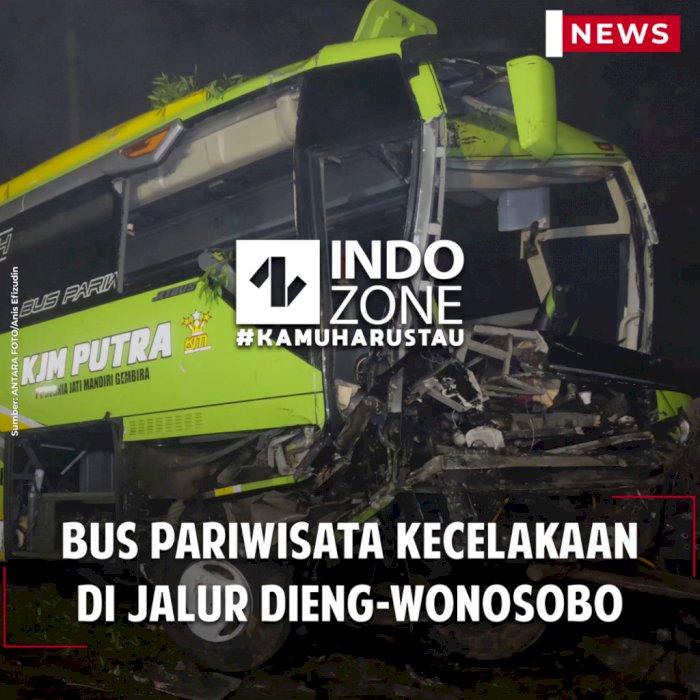 Bus Pariwisata Kecelakaan di Jalur Dieng-Wonosobo
