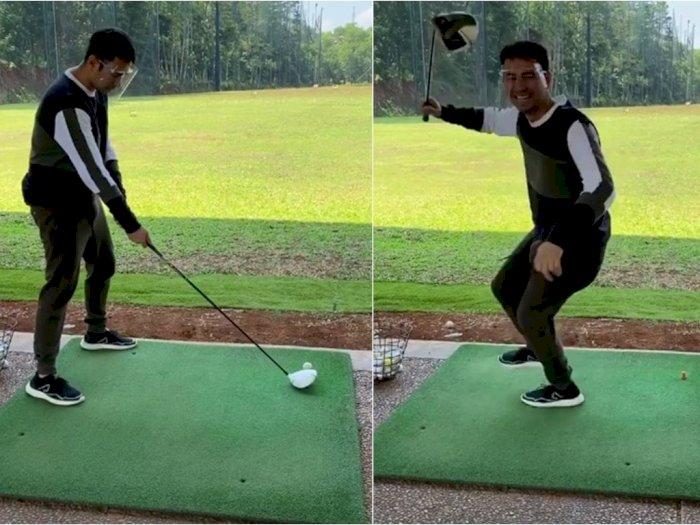 Sudah Bergaya Kece, Ending Main Golf Raffi Ahmad Malah Bikin Ngakak