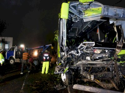 FOTO: Kecelakaan Bus Pariwisata di Wonosobo
