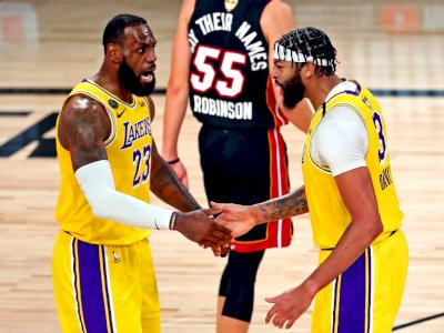 FOTO: Lakers Kalahkan Miami Heat 116-98 di Game 1 Final NBA 2020