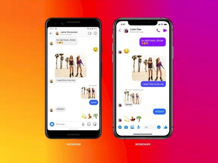 Facebook Mulai Gabungkan Fitur Direct Message di Instagram dengan Messenger