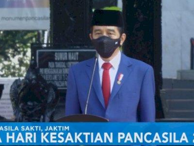 Jokowi Pimpin Upacara Peringatan Hari Kesaktian Pancasila di Lubang Buaya