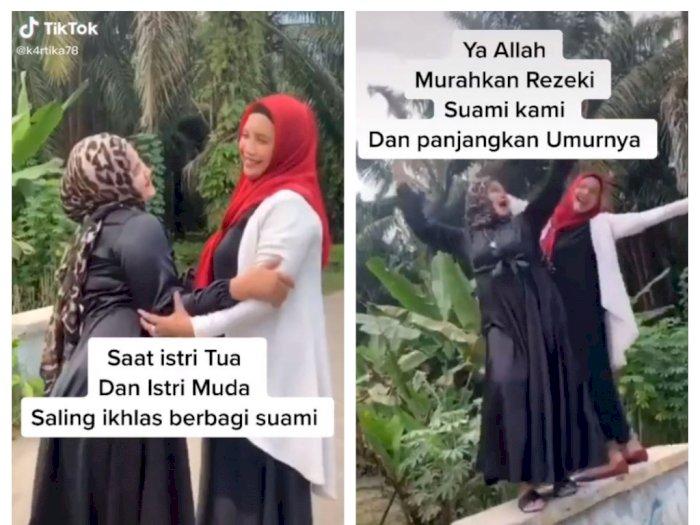 Heboh Istri Tua dan Istri Muda Akur hingga Saling Menolong, Netizen Curiga Itu Setingan