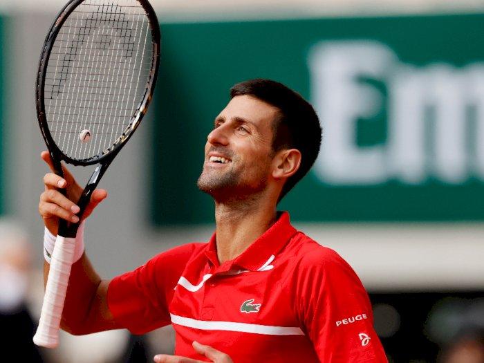 FOTO: Prancis Terbuka 2020: Novak Djokovic Pulangkan Ricardas Berankis